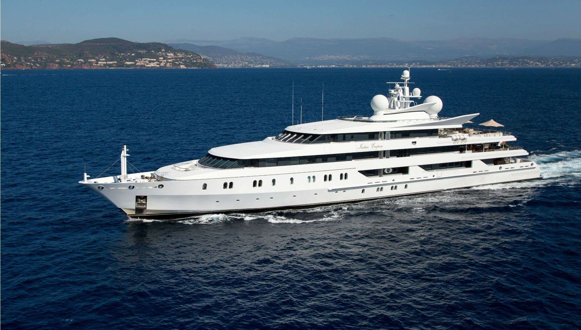 Indian Empress Mega Yacht Mykonos 12 Guests 17 Cabins