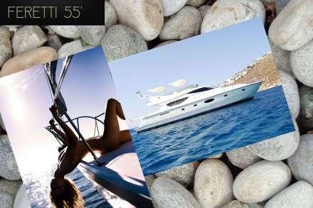Feretti 55 Motor Yacht Charters Mykonos