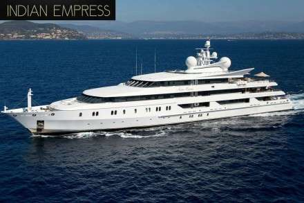 Indian Empress Mega Yacht Charters Mykonos