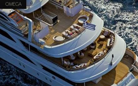 Omega Mega Yacht Charters Mykonos