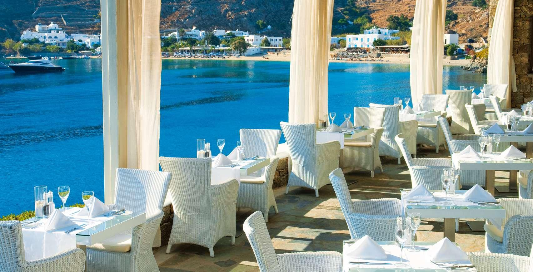 Petasos Beach Mykonos Resort Restaurant