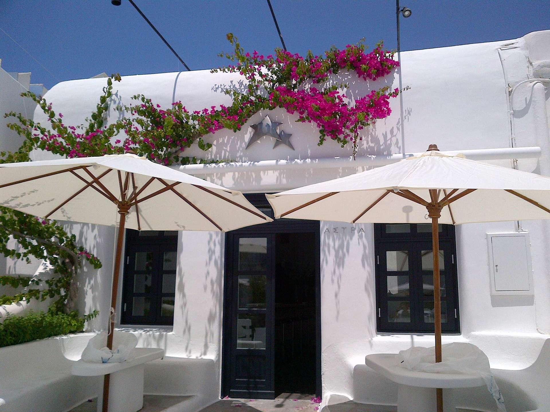 Astra Bar Club Mykonos outside view