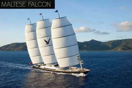 Maltese Falcon Mega Yacht Charters Mykonos